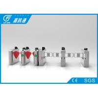 China Card Reader Mechanical Turnstile , Two - Way Pedestrian Turnstile Gate Systems wholesale