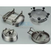 China Stainless Steel Tank Manhole Cover With Sight Glass Stainless Steel Pressure Manway wholesale