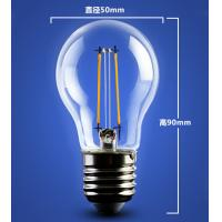 China golden base aluminum plastic C35 A60 E27 E14 Edison RGB COG lamp LED Filament Bulb Light wholesale