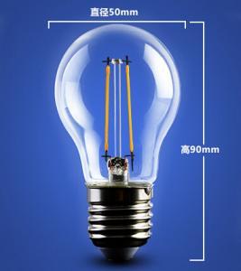 Quality golden base aluminum plastic C35 A60 E27 E14 Edison RGB COG lamp LED Filament for sale