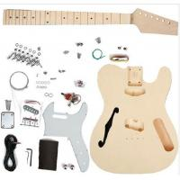 China TL Type DIY Electric Guitar Kits Maple neck Guitar with F Hole On The Top AG-TL4 wholesale