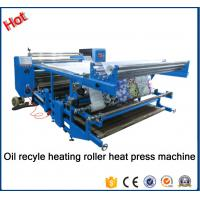 China New type Oil recyle heating roller press machine\Blanket fabric printing heat transfer machine for fabric factory26A wholesale