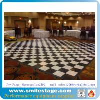 Buy cheap Custom Black and White PVC Dance Floor Banquet Room Floors product