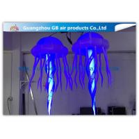 China Attactive Inflatable Lighting Decoration / Blue Light Up Jellyfish wholesale