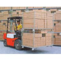 China Collapsible Wire Storage Cages 300kg To 1500kg Loading Capacity wholesale