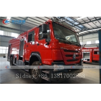 Buy cheap Sinotruk HOWO 4X2 6000liters 6cbm Water and Foam Tank Fire Fighting Truck from wholesalers
