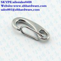 Quality stainless steel 40mm,50mm 70mm,100mm Spring Snap Clip Hook Eye End/egg shaped for sale