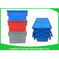 China Turnover Logistics Opaque Plastic Attached Lid Containers For Foods , Textile wholesale