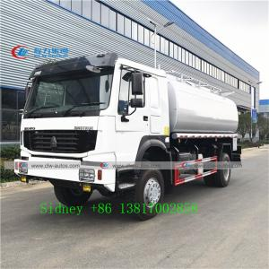 China Sinotruk Howo 4x4 Off Road 290HP Fuel Tanker Truck With Pump wholesale