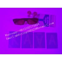 Buy cheap Blue Texas Hold'em plastic marked cards for invisible ink/perspective sunglasses/omaha texas from wholesalers
