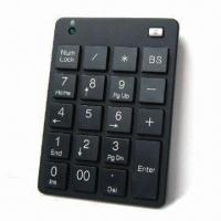China Numerical Keyboard, Made of ABS Plastic, with 10 Millions Times Key Lifespan wholesale