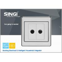 China 2 gang TV socket    Hot sell one gang wall switch and socket for Brazil market ,colorful electrical wall switch 2 gang wholesale