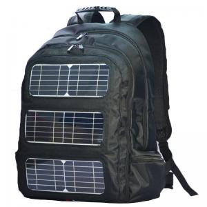 Quality Black Shoulder Strap Solar Charging Backpack For Outdoor Travel for sale