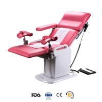 China Electrical double control gynecological operating table with two foot support wholesale