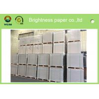 China Anti Curl Clay Coated Kraft Paper , Smooth Cardboard Backing Sheets For Present Case wholesale