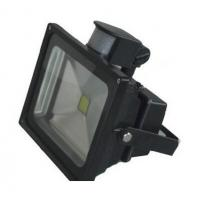 China flood light led lighting black housing PIR human motion sensor high lumen IP65 indoor lamp wholesale