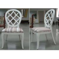 China Restaurant Streak Fabric Upholstery Modern Dining Room Chairs With Round Back wholesale