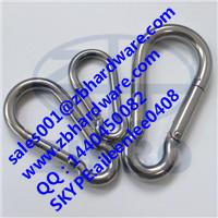 China carabiner AISI 304/316 stainless steel snap hook spring snap hook wholesale