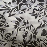 China Dyed Polycotton Fabric 90% Polyester 10% Cotton 100gsm Black Flower Pattern wholesale