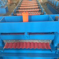 China Building Roofing Sheet Roll Forming Machine , Roofing Sheet Making Machine on sale