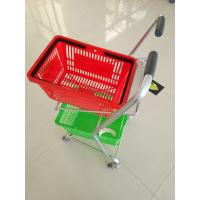Buy cheap Super Market Shopping Basket Trolley , Flat Casters Double Basket Shopping from wholesalers