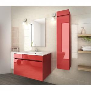 China 80 Inch Red Single Bathroom Vanity , Good Stability Bathroom Vanity With Sink wholesale