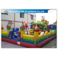 China Big PVC Inflatable Fun City With Dolls , Cartoon Inflatable Play Park For Kids wholesale