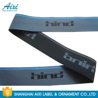 China Polyester / nylon spandex Colored Garment Woven Tape With Logo wholesale