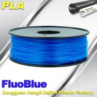 China Fluorescent Blue 3D Printer Filament  PLA 1.75mm / 3.00mm 1.0KG / roll For Markerbot wholesale