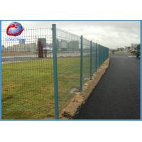 China Easy Installation Pvc Coated Welded Wire Mesh Fence With Rectangle Post on sale