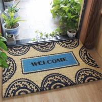 China Nature Coco Fiber Printed Coir Entrance Matting , Welcome Home Doormat wholesale