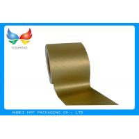 China Golden Vacuum Metallic Wrapping Paper 83 GSM , Aluminum Foil Surface Material on sale