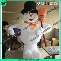 China 3m Inflatable Snowman With Broom,Inflatable Snow Man Mascot, Snow Man Cartoon wholesale