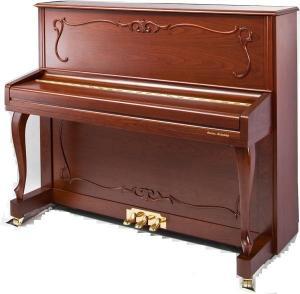 China Walnut Matt Deluxe 123cm Acoustic Upright Piano / Upgrade Piano AG-123S3 wholesale