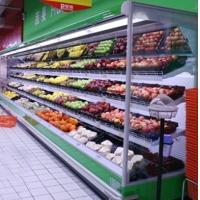 China Vegetable / Milk Upright Multideck Open Chiller 2 Degree With Vertical Curtain Chiller For Energy Saving wholesale