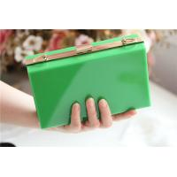 Quality Green lady acrylic makeup storage boxes Retangle With waterproof for sale