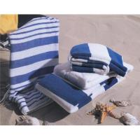 China Compressed cotton velour printed beach towels wholesale