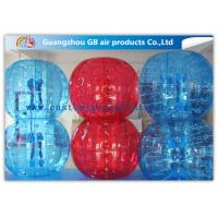 China Red And Blue Inflatable Human Bumper Ball Bubble Football Suits LOGO Acceptable wholesale