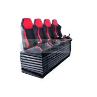 China Dynamic Cinema Seat / Movie Theater Chairs With Push Back , Electrical Vibration wholesale