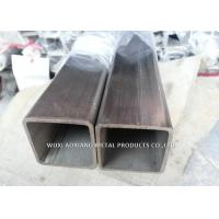 China Series 202 Stainless Steel Square Pipe / Square Steel Tubing Logo Print Available on sale