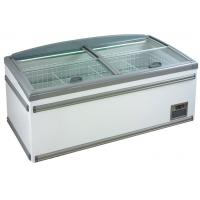 China 630L Four Sliding Glass Door Island Freezer , Commercial Deep Freezer For Supermarket wholesale