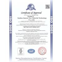 Suzhou Junyue New Material Technology Co.,Ltd Certifications