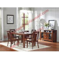 China High Quality Solid Wooden Furniture Dining Table with Chair wholesale