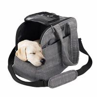 China Polyester / Canvas Puppy Airline Carrier Bag , Soft Sided Dog Crates Airline Approved wholesale
