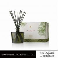 China Blackish green color bottle with natural stick and rigid gift box wholesale