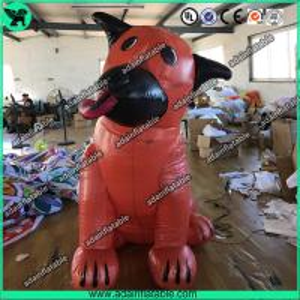 China Orange Ugly Inflatable Dog,Inflatable Dog Mascot,Inflatable Dog Cartoon,Giant Dog wholesale