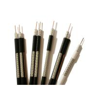 China RG59 ST Coaxial Cable 0.64mm BC Solid PE 95% CCA Braid PVC Jacket Black wholesale