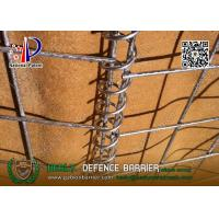 Buy cheap HESLY MIL19 Welded Gabion Barrier | 2.74m high with beige color geotextile cloth from wholesalers