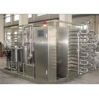 China 1000 LPH Milk Fruit Juice Pasteurization Machine SS 304 / SS 316 Material wholesale