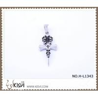 China Hot sell 316 Stainless Steel Cross & Death's-Head Pendant H-L1343 wholesale